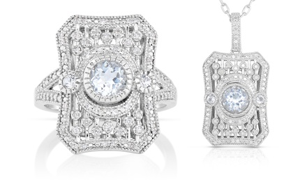 0.15 CTTW Diamond and White Topaz Ring or Pendant from $59.99–$74.99