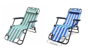 Fine Living Striped Beach Chairs
