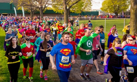Entry for One or Two to The Super Run on Saturday, April 9 (Up to 56% Off)