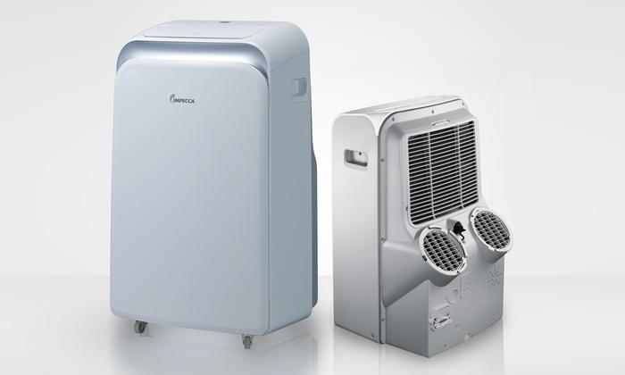 12 000 Btu Dual Hose Portable Air Conditioner  Fan  And