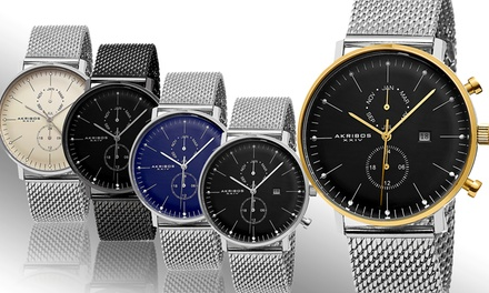 Akribos XXIV Men's Swiss Multifunction Bracelet Watch