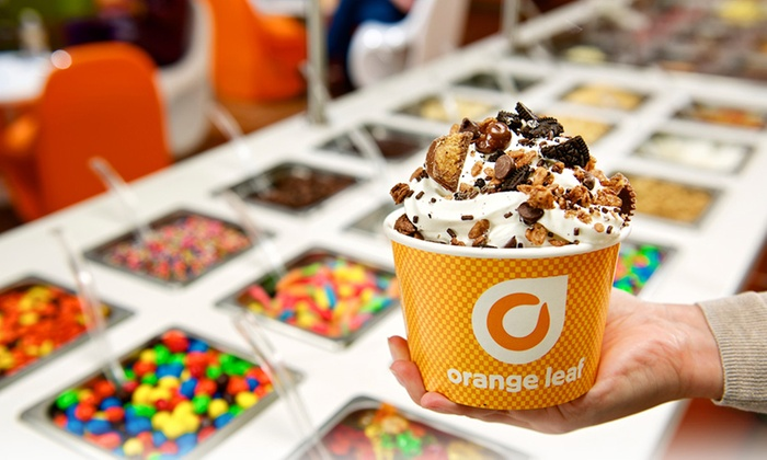 Orange Leaf Frozen Yogurt - Ball Road Industrial Park: One or Two Groupons, Each Good for $10 Worth of Fro-Yo at Orange Leaf Frozen Yogurt (40% Off)