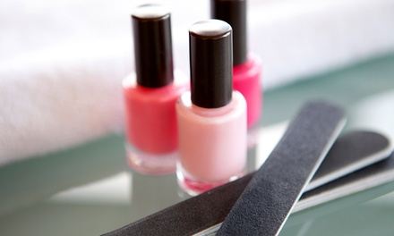 One or Three Regular Mani-Pedis or One No-Chip Mani with Regular Pedi at Diverso Nail Bar (Up to 57% Off)