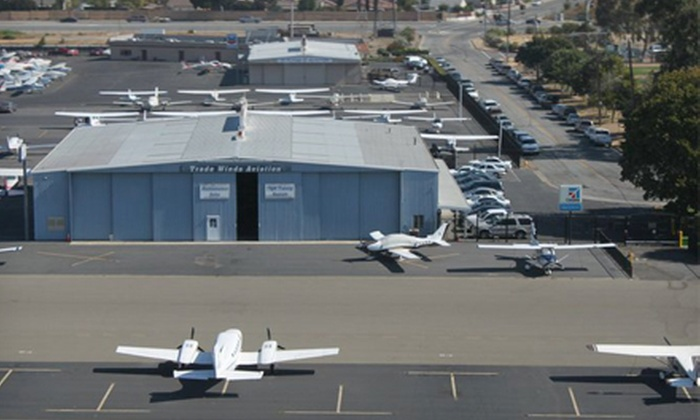 Trade Winds Aviation - San Jose: Introductory Flight Lesson in Option of Remos or Cessna 172 Aircraft from Trade Winds Aviation (Up to 56% Off)