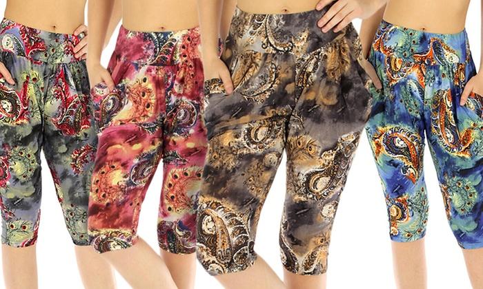Women's Printed Capri Harem Pant
