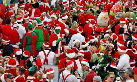 Running of the Santas Pub Crawl General Admission for Two or Four on Saturday, December 5 (Up to 50% Off)