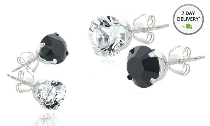 Swarovski Black and White Stud Earrings: Swarovski Black and White Stud Earrings. Multiple Options. Free Returns.