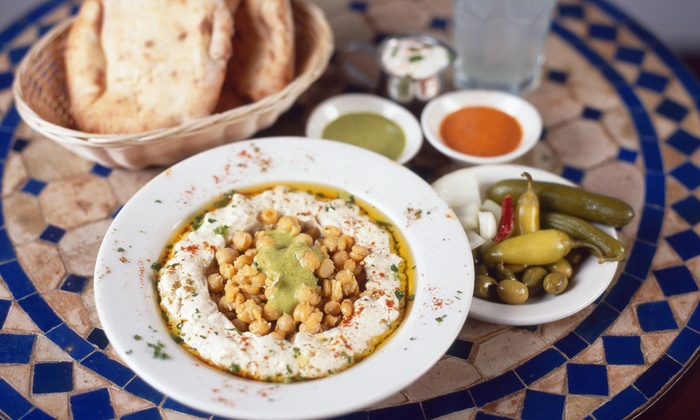Hummus Place -  3 Locations in NY - Multiple Locations: Middle Eastern Dinner for Two or $15 for $25 Worth of Takeout at Hummus Place (Up to 46% Off)