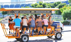 Social Cycle: One, Two, or Four Pedal-Pub Tours from Social Cycle (50% Off)