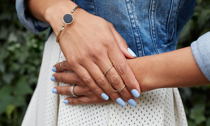 Adore Salon - Montclair: One or Two Manicure Packages or Short Full Set of Acrylic Nails with Basic Polish at Adore Salon (Up to 50% Off)