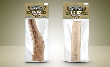Small or Large Big Sky Natural Split-Antler Dog Chew. Free Returns.