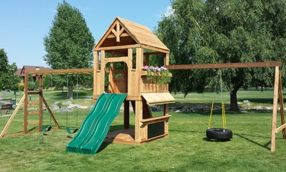 image for $250 for $440 Toward a Custom Swing Set or Clubhouse at Jonrie Designs, LLC