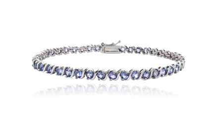 5.00 CTTW Genuine Tanzanite Bracelet