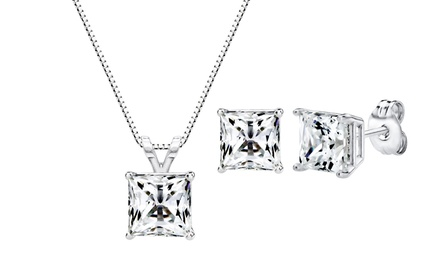 1.00–4.00 CTTW Pendant, Earrings, or 2-Piece Set Made with Swarovski Zirconia in Sterling Silver from $14.99–$24.99