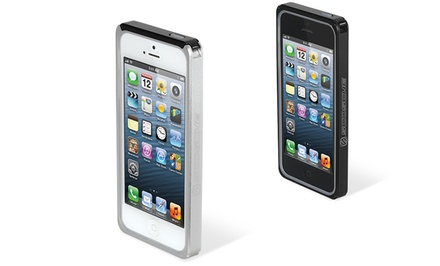 Scosche railKASE Aluminum Bumper for iPhone 5/5s in Black or Silver.