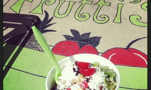 Frutti's Frozen Yogurt: One Snack and Drinks at Frutti's Frozen Yogurt (40% Off)