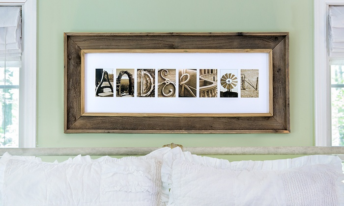 Frame the Alphabet: One or Two Standard Framed Names from Frame the Alphabet (Up to 60% Off)