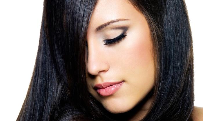 Nikko Hair Studio - Nikko Hair Studio: Eyebrow Shaping or Haircut, Blowout, and Argan Oil Conditioning Treatment at Nikko Hair Studio (Half Off)