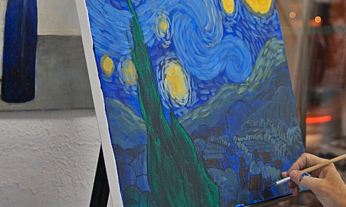 Van Gogh–Style Painting Class - Brooklyn: Re-create The Starry Night on Canvas with a Professional Artist