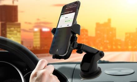 1 ou 2 supports de voiture rétractables et ajustables à 360°, compatible tous smartphones, livraison offerte