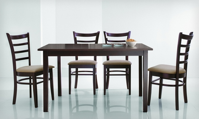 Five-Piece Dining Set: Baxton Studio Five-Piece Modern Dining Set (Up to 66% Off). Five Styles Available.