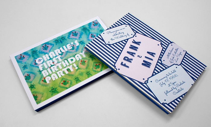 """Paper Chase Press: 50, 100, or 250 5""""x7"""" Postcards or $19 for $60 Worth of Paper Goods from Paper Chase Press"""