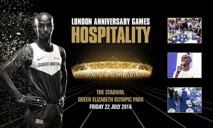 Two Course Lunch, Afternoon Tea, Complimentary Bar at 2016 Anniversary Games at Queen Elizabeth Olympic Park