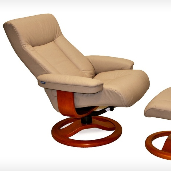 Wondrous 699 99 For A Scansit Leather Recliner And Ottoman By Hjellegjerde Up To 2 595 List Price Multiple Colors And Sizes Ocoug Best Dining Table And Chair Ideas Images Ocougorg