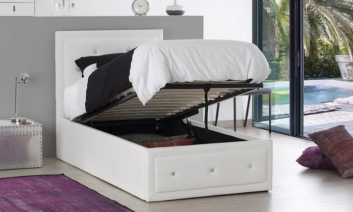lit coffre strass groupon shopping. Black Bedroom Furniture Sets. Home Design Ideas