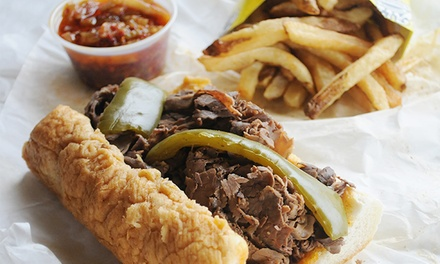 Italian-Beef Sandwiches, Sausages, and Fries at Al's Italian Beef (30% Off). Two Options and Six Locations Available.
