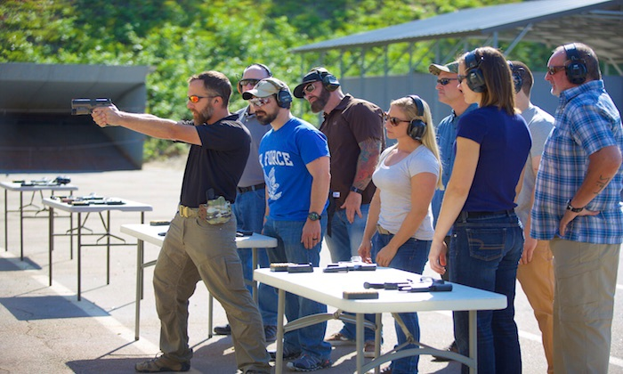 Sig Sauer Academy - Epping: Handgun 101 Class for One with Ammo, Handgun, and Equipment Rental at Sig Sauer Academy (29% Off)