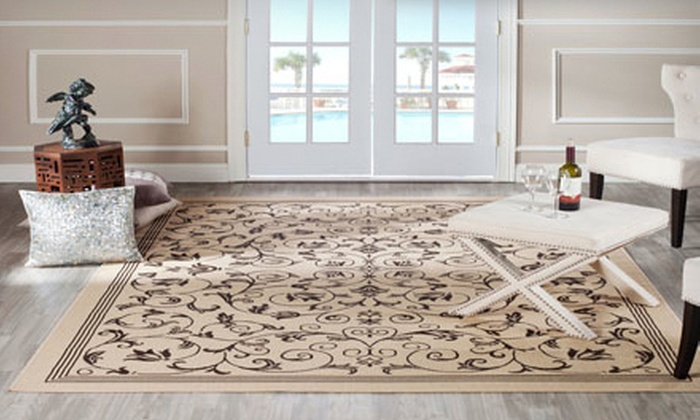 $99 for Two Safavieh Indoor-Outdoor Rugs | Groupon