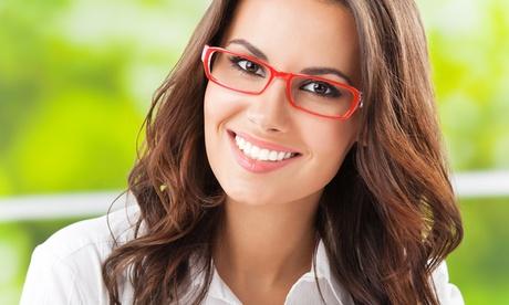 Buono sconto o un paio di occhiali completi con lenti monofocali o...