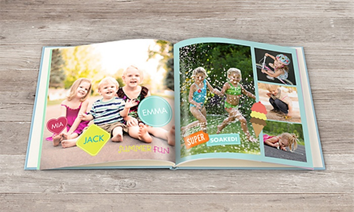 "Snapfish: 5""x7"", 8""x8"", or 12""x12"" Custom Photo Book from Snapfish (Up to 69% Off)"