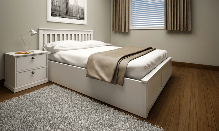 Peachy Wooden Ottoman Storage Bed Groupon Goods Dailytribune Chair Design For Home Dailytribuneorg