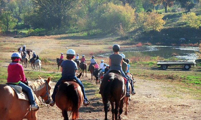 White Pines Ranch - Pine Creek: 45-Minute Guided Horseback Trail Ride for Two or Four at White Pines Ranch (Up to 51% Off)