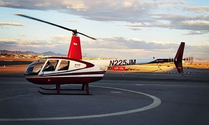 Airwork Helicopters: Helicopter Tour of the Strip or Red Rock Canyon for 1 or 3 People from Airwork Helicopters (Up to 70% Off)