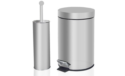 Tectron Bathroom Trash Can and Toilet Brush Set. Free Returns.