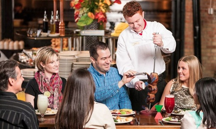 Unlimited Brazilian Dinner with Wine for Two or Four at Rodizio Grill (Up to 41% Off)