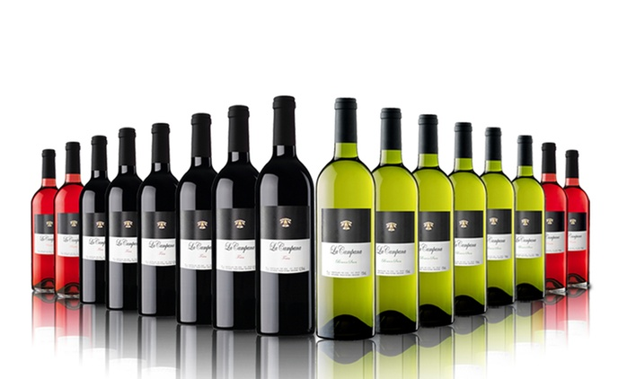 16 Bottles of Red, White, Rose or Mixed Wine for £54.99 With Free Delivery (64% Off)