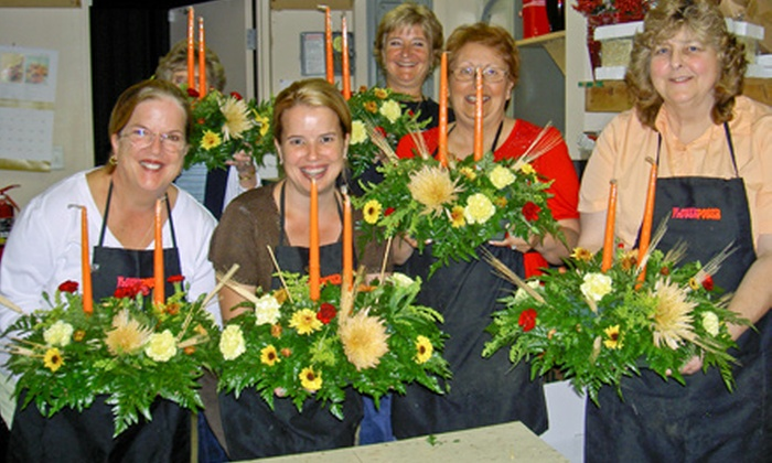 Flower Power - Citrus Ridge: Flower-Arrangement Class with Take-Home Creation for One, Two, or Four at Flower Power (Up to 55% Off)