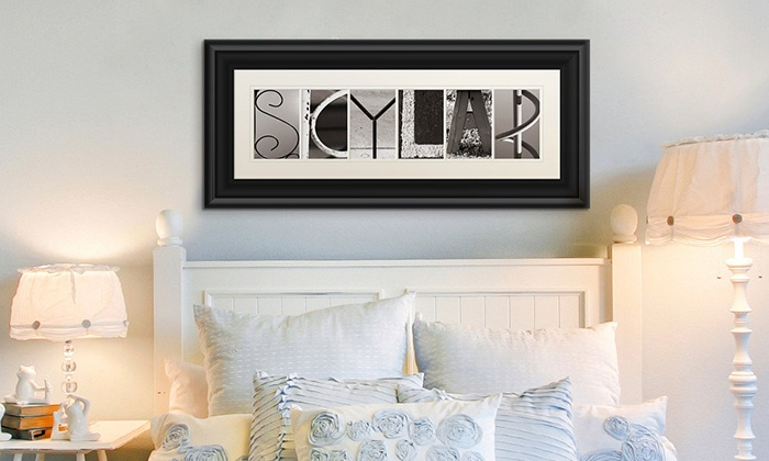 Great Big Canvas: $59.99 for Custom Framed Letter Art from Great Big Canvas ($139.99 Value)