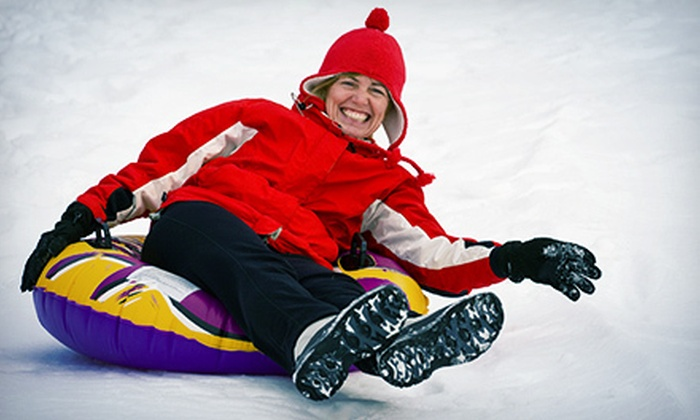 Hawk Island Snow Park - Forest View: Two Hours of Snow Tubing for Two Adults or Two Adults and Two Kids at Hawk Island Snow Park (Half Off)