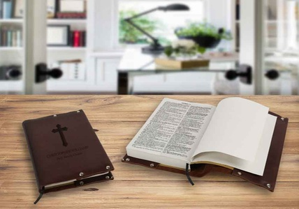 Personalized Bible, Genuine Leather Personalized Bible Cover or Set of Both from Monogram Online (Up to 71% Off)