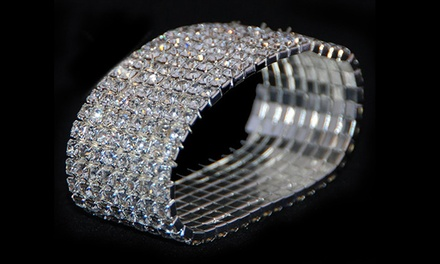 Bracelet Set with 8 Tiers of Swarovski Elements Crystals (Shipping Included)