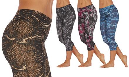 Marika Tek Printed Slimming Capri Leggings