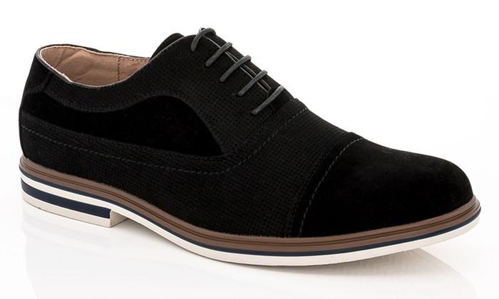 Franco Vanucci Dexter-1 Men's Casual Suede Oxford Shoes (Size 7.5)