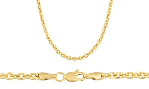 2.5mm Diamond Cut Cable Chain In 10k Yellow Gold