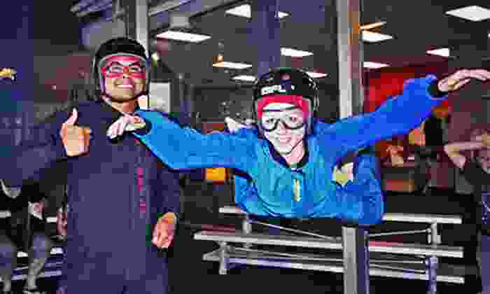 iFLY - Downtown Ogden: Indoor-Skydiving Package with T-shirt and DVD for Two or Four from iFly (Up to 53% Off)