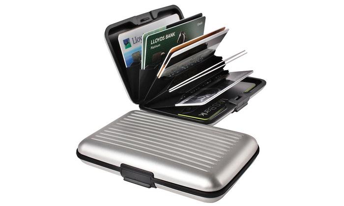 Porte Cartes Aluminium Antichoc Groupon Shopping - Porte carte aluminium
